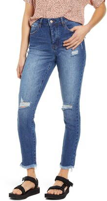 Prosperity Denim Ripped High Waist Ankle Skinny Jeans