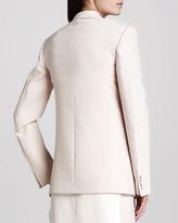 ADAM by Adam Lippes One-Button Virgin Wool Blazer, Blush