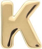 JCPenney FINE JEWELRY Teeny Tiny 10K Yellow Gold Initial K Single Stud Earring