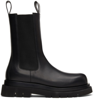 Bottega Veneta Black Medium Tire Chelsea Boots
