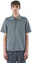 Yang Li Men's Houndstooth Polo Shirt In Black