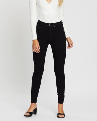 Only Global High-Waisted Skinny Denim Jeans