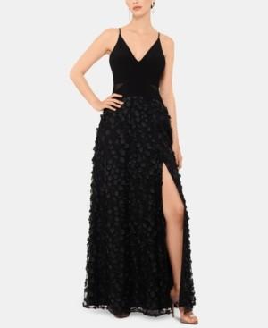 Xscape Evenings Flower-Skirt Gown