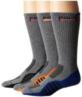 Polo Ralph Lauren 3-pack Racing Stripe Sole Contrast Crew Socks