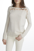 White + Warren Cashmere Cut Out Top