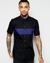 Diesel Regular Fit Shirt S-Coast-Sho Short Sleeve Contrast Panel and Collar