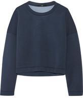 Tibi Cropped Stretch-Neoprene Sweatshirt