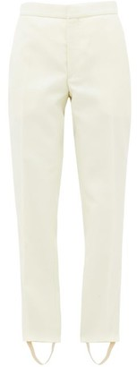 Wardrobe NYC Release 05 Stirrup Merino-wool Trousers - White