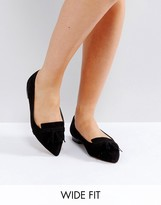 Asos LEXINGTON Wide Fit Loafer Ballet Flats