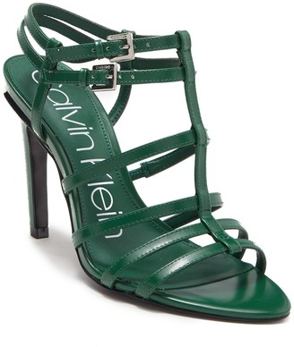 Calvin Klein Gili Box Leather Sandal