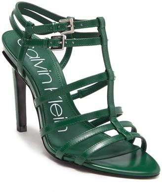 Calvin Klein Gili Box Leather Sandal