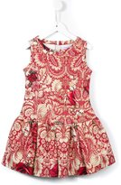 MonnaLisa rose print neoprene dress