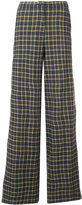 Robert Rodriguez plaid palazzo pants - women - Cotton - 0