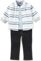 Nautica Baby Boys 12-24 Months Striped Button-Down Shirt, Tee, & Pants 3-Piece Set