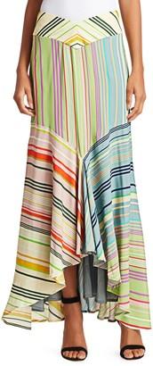 Silvia Tcherassi Beverly Striped Maxi Skirt