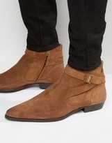 Asos Chelsea Boot With Strap Detail