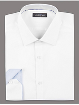 Autograph 2in Shorter Supima® Cotton Basket Weave Shirt