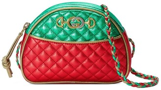 Gucci red and green Laminated leather mini bag