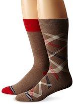 Nautica Men's 2-Pack Classics Dress Casual Diagonal Stripes Crew Socks