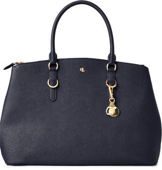 Ralph Lauren Leather Double-Zip Satchel