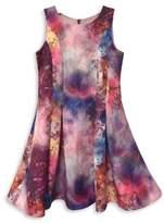 Dorissa Girl's Jacquard Fit-&-Flare Dress