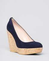 Stuart Weitzman Platform Wedge Pumps - Corkswoon