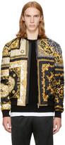 Versace Black and Gold Medusa Bomber Jacket