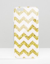 Signature iPhone 6 Case In Glitter Chevron Print