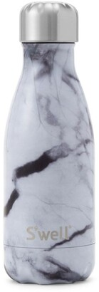 Swell Small White Marble Water Bottle