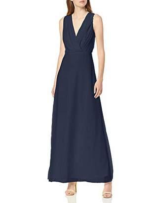 Vila CLOTHES Women's Vialli S/l Maxi Dress/dc Pink Rose Smoke, 14 (Size: )