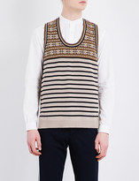 Camoshita Stripe-print knitted cotton jumper