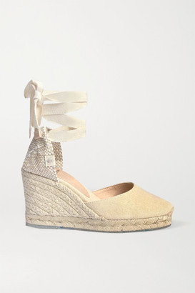 Castaner Carina 60 Canvas Wedge Espadrilles - Cream