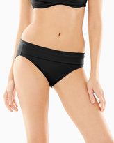 Soma Intimates Slimming Foldover Hipster Bottom Black