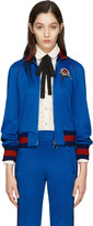 Gucci Blue Embroidered Track Jacket