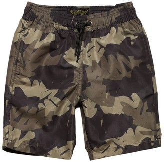 Finger In The Nose Camouflage Print Nylon Swim Shorts
