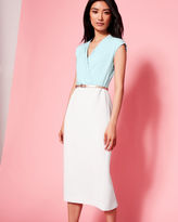 Ted Baker Wrap front midi dress
