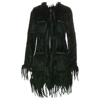 Herve Leger Black Fur Coat for Women