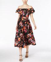 Grace Elements Cotton Off-The-Shoulder Midi Dress