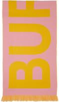 Burberry Pink Wool Jacquard Logo Scarf