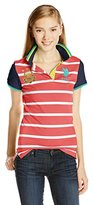 U.S. Polo Assn. U.S. Polo Shirt Assn. Juniors Cotton Jersey Stripe Top with Solid Short Sleeves