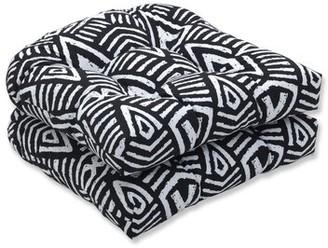 Antonio Wicker Indoor/Outdoor Rocking Chair Cushion Union Rustic Fabric: Black