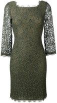 Diane von Furstenberg lace fitted dress - women - Silk/Nylon/Rayon/Viscose - 4