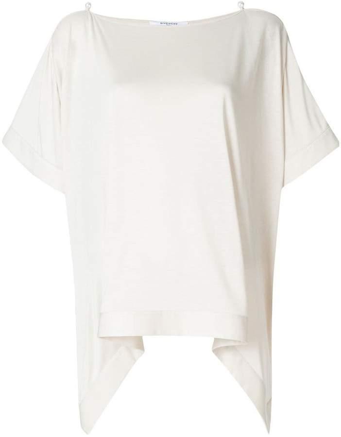 Givenchy draped short-sleeve top