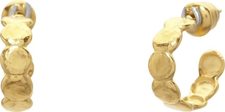 Gurhan Spell Pebble Lentil Hoop Earrings