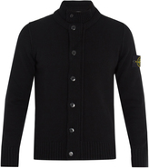 Stone Island Wool-blend knit cardigan