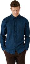 Frank + Oak Double Face Slub Shirt in Blue