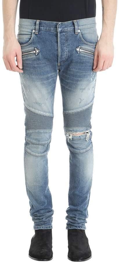 Balmain Blue Denim Jeans