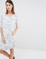 Selected Tunni Dress in Lunar Rock Print