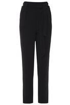 Quiz Black Crepe High Waisted Trousers