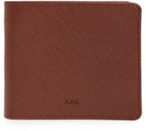 A.P.C. Men's Aly Leather Bifold Wallet - Brown